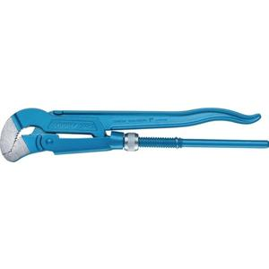 GEDORE Eckrohrzange Eck-Schwede-snap® Gesamtlänge 420 mm Spannweite 60 mm für Rohre 1 1/2 Zoll