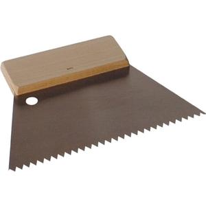 Kleberspachtel Breite 180 mm Zahnung fein B2 Holzgriff