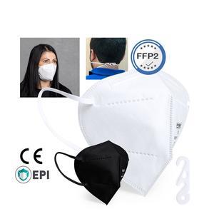 FFP2 Maske schwarz einzelverpackt 1 Stück Mundschutzmasken & Nasenschutzmasken