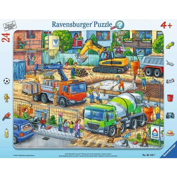"""Ravensburger Kinderpuzzle """"Auf der Baustelle ist was los!"""" 24 Teile ab 4 Jahre Puzzle von Ravensburger"""