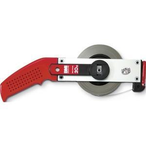 BMI Rahmenbandmaß ERGOLINE Länge 50 m Bandbreite 13 mm B mm/cm EG II Aluminium weiß Stahlmaßband