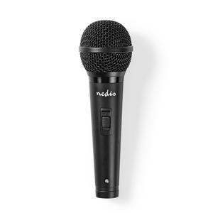 Nedis Kabelgebundenes Mikrofon / Cardioid / Abnehmbares Kabel / 5.00 m / 80 Hz - 13 kHz / 600 Ohm / -72 dB / Ein-/Ausschalter / ABS / Aluminium / Schwarz