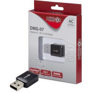Inter Tech Inter-Tech Wi-Fi5 + BT4.2 USB Adapter DMG-07 Stick 650Mbps retail (88888146)