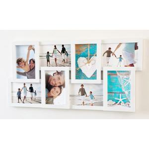 Euratio Wandgalerie White 8fach für 8x 10x15 cm Fotos hoch/quer