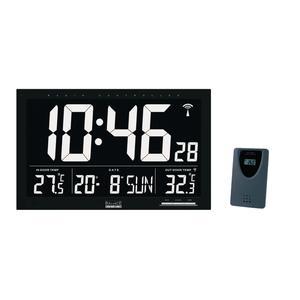 Balance Funkgesteuerte Wanduhr LCD Schwarz