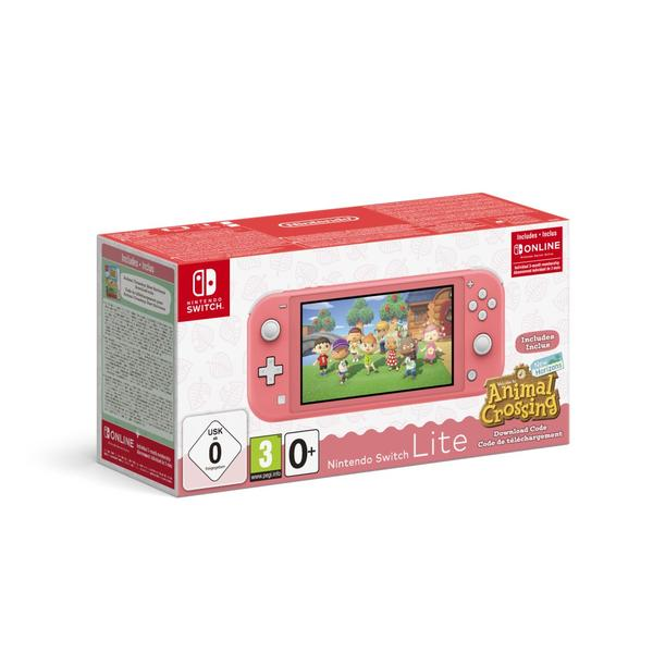 Nintendo Switch Lite koralle inkl. Animal Crossing