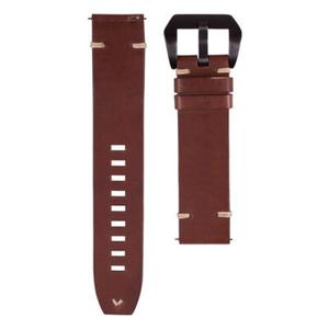 Pipifein Armband Pferdeleder 22mm br (010-Brown 22mm/Ecru)