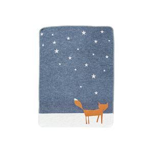 FUSSENEGGER Babydecke KiDs Fuchs unter Sternen grau/rosa ()