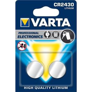 Varta Knopfzelle CR 2430 Elektronikbatterie Professional Electronics 2 Stk