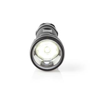 Nedis LED-Taschenlampe / Batteriebetrieben / 4,5 V / 10 W / 3x C / Batterien enthalten / Nennlichtstrom: 500 lm / Lichtbereich: 250 m / Strahlungswinkel: 9.5 ° / 10000 Schaltzyklen