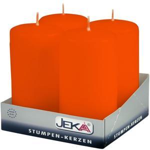 Jeka Kerzen Jeka, Stumpen 100/50mm 4er Packung (FLAME)