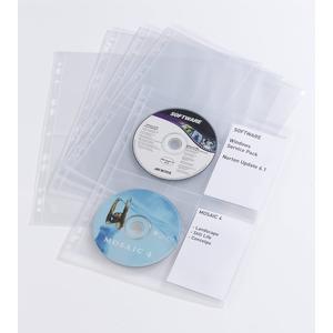 DURABLE CD/DVD COVER light M Pck a 10 Taschen transparent (523819)