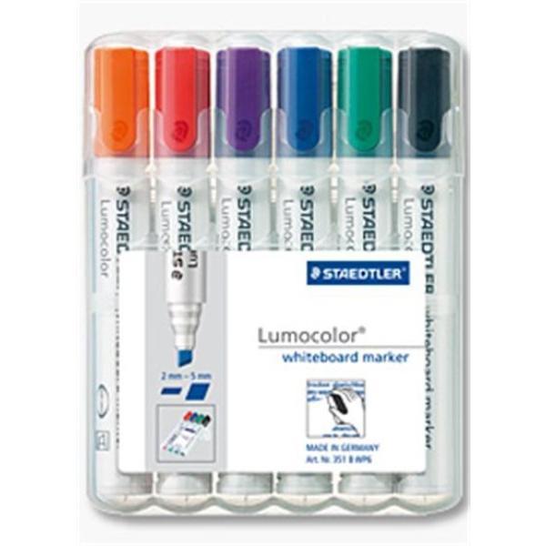 STAEDTLER Whiteboardmarker Lumocolor 6St Box (351 B WP6)