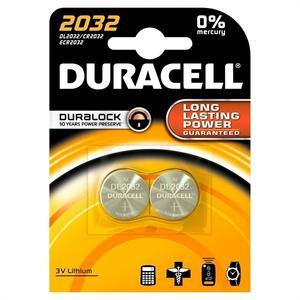Duracell Knopfzellenbatterie Lithium DL/CR 2032 2 Stk