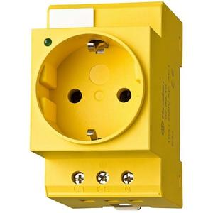 Finder Steckdose für Reiheneinbau Farbe gelb für Wechselstrom 16 A 250 V AC