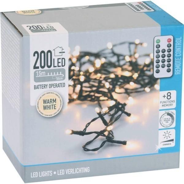 Nedis Weihnachtsbeleuchtung Außen LED 200 warm weiss 15m