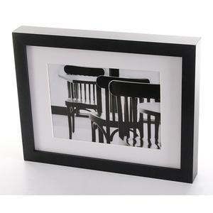 Euratio CPS Enjoy 13x18 cm schwarz mit Passepartout Holzrahmen