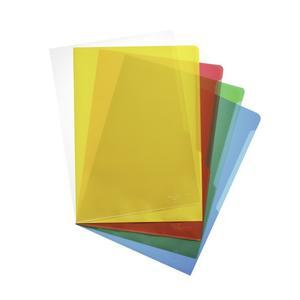DURABLE Sichthülle A4 hoch PP 0,12mm farbsort. 100 Stück (233700)