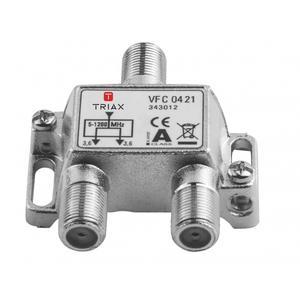 Triax BK-CATV Verteiler 2-fach 3,7dB 1,2 GHz