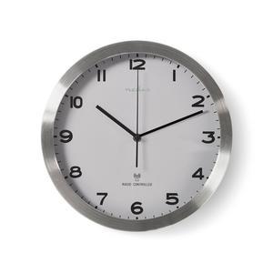 Nedis Wanduhr / Durchmesser: 300 mm / Modern / Aluminium / Kunststoff / Funkgesteuerte Zeit