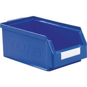KAPPES Sichtlagerkasten L350xB200xH150mm PE blau