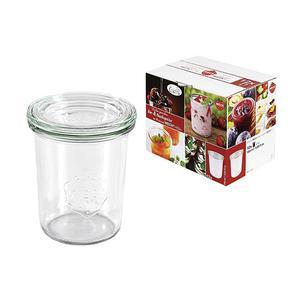 WECK Rundrandglas Einkochwelt Vor-und Nachspeisen Sturz 160 ml 12er Karton mit Deckel 60mm ()