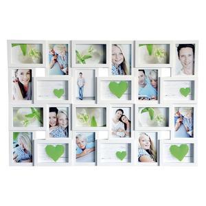 Euratio Wandgalerierahmen 24fach weiß 10x15cm, Außenmaß 56,7 x 85,4 cm