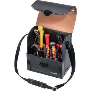 PARAT Werkzeugtasche B.220xT.140xH.250mm aus Rindleder schwarz 17 Einsteckf. 8l Vol.