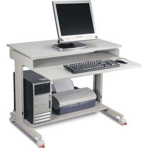 PC-Arbeitstisch H720-1100xB900xT500mm lichtgrau, RAL 7035 fahrbar