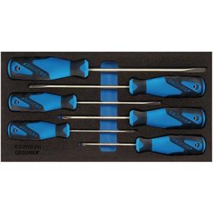 GEDORE Werkzeugmodul 1500 CT1-2150 PH 6-teilig 1/3-Modul Schlitz / PH