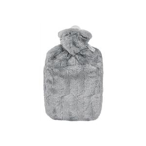 HUGO FROSCH Wärmflasche Klassik Hochflor-Flauschbezug 1,8 l grau (0570)