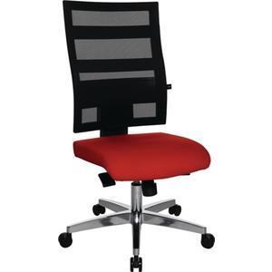 TOPSTAR Bürodrehstuhl mit Punktsynchrontechnik schwarz/rot 450-550 mm ohne Armlehnen Tragfähigkeit 1