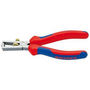 KNIPEX Abisolierzange Länge 160 mm poliert Mehrkomponenten-Hüllen ohne Öffnungsfeder