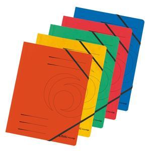 Herlitz Eckspanner A4 Quality farb.sort. 5er Packung (10902872)
