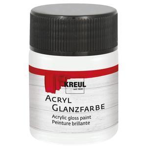KREUL Acryl Glanzfarbe Weiß 50 ml (79501)