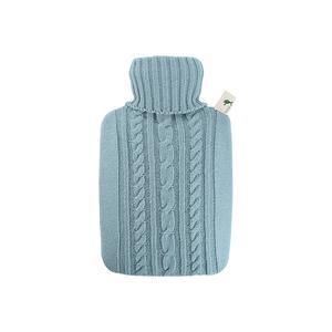 HUGO FROSCH Wärmflasche Klassik 1,8l Strickbezug pastell-blau (561)