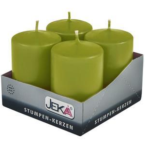 Jeka Kerzen Jeka, Stumpen 80/50mm 4er Packung (PISTAZIE)