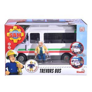 Simba, Trevors Bus mit Figur, Feuerwehrmann Sam
