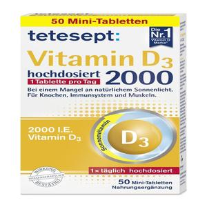 Tetesept, Vitamin D3, 50 Stück