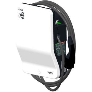 Schneider Electric EVlink Wallbox G4 Smart mit Typ 2 Kabel 4,5 m 1ph 22 kW - RFID