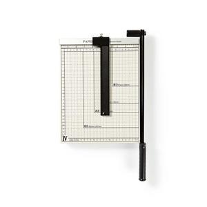 Nedis Papierschneidemaschine / max. Schnittgröße: 210 x 297 mm / Typ Messer: Metall / Metall / Weiss/Schwarz