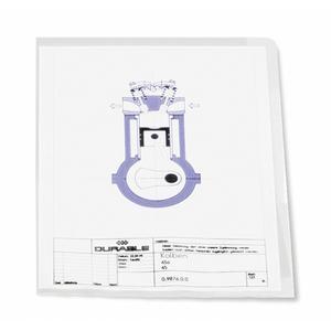 DURABLE Sichthülle A4 Hartfolie 0,15mm transparent 50 Stück (233919)