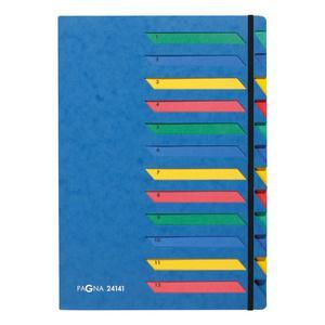 PAGNA Deskorganizer Classic 12 Fächer 1-12 blau (24141-02)