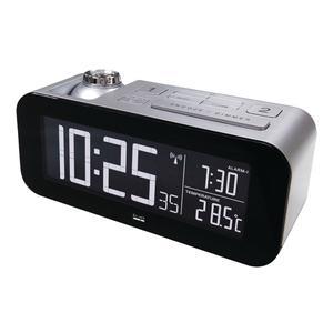 Balance Funkgesteuerter Wecker LCD Silber/Schwarz