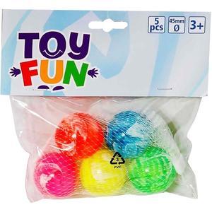 Toy Fun TOF Flummis 5 Stück im Beutel (73514703)