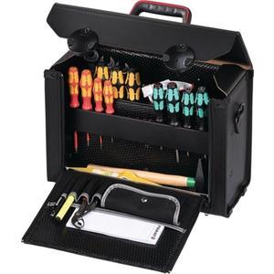 PARAT Werkzeugtasche B.415xT.165xH.275mm aus Rindleder schwarz CP-7 Stecksyst. 19l Vol.