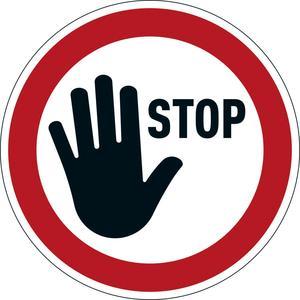 DURABLE Verbotsaufkleber ''STOP'' (104203)