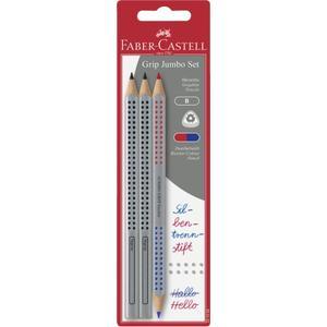 Faber-Castell, Bleistiftset mit Silbentrennstift, Jumbo Grip, 3 Stück