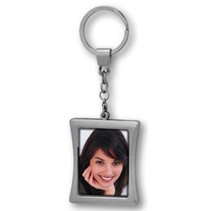 ZEP Metall-Schlüsselanhänger Silver, für 2 Fotos 3,5x4,5 cm, im Blister