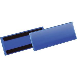 Etikettentasche B210xH74mm blau magnetisch